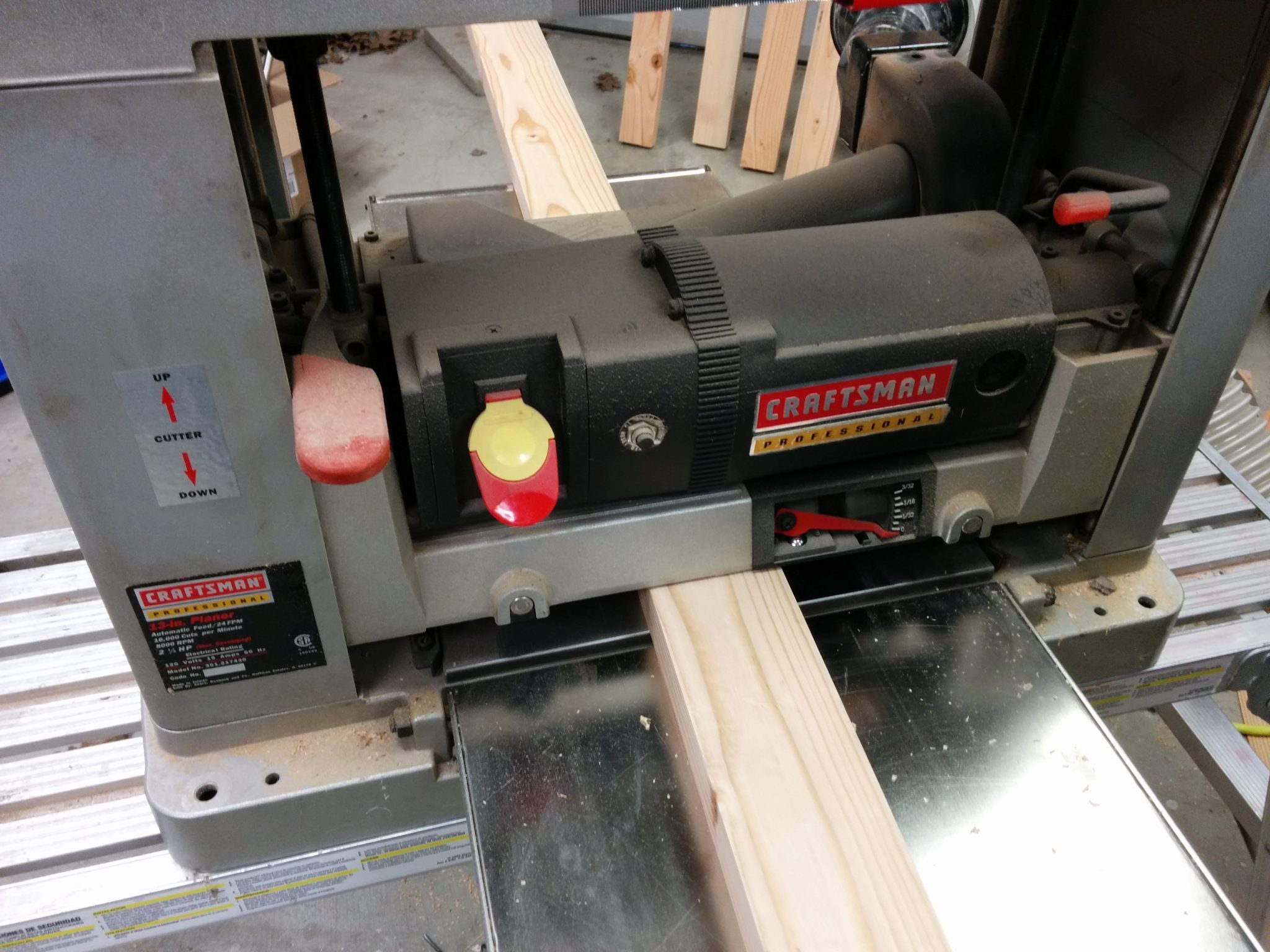 Milling the 4th side on the planer.