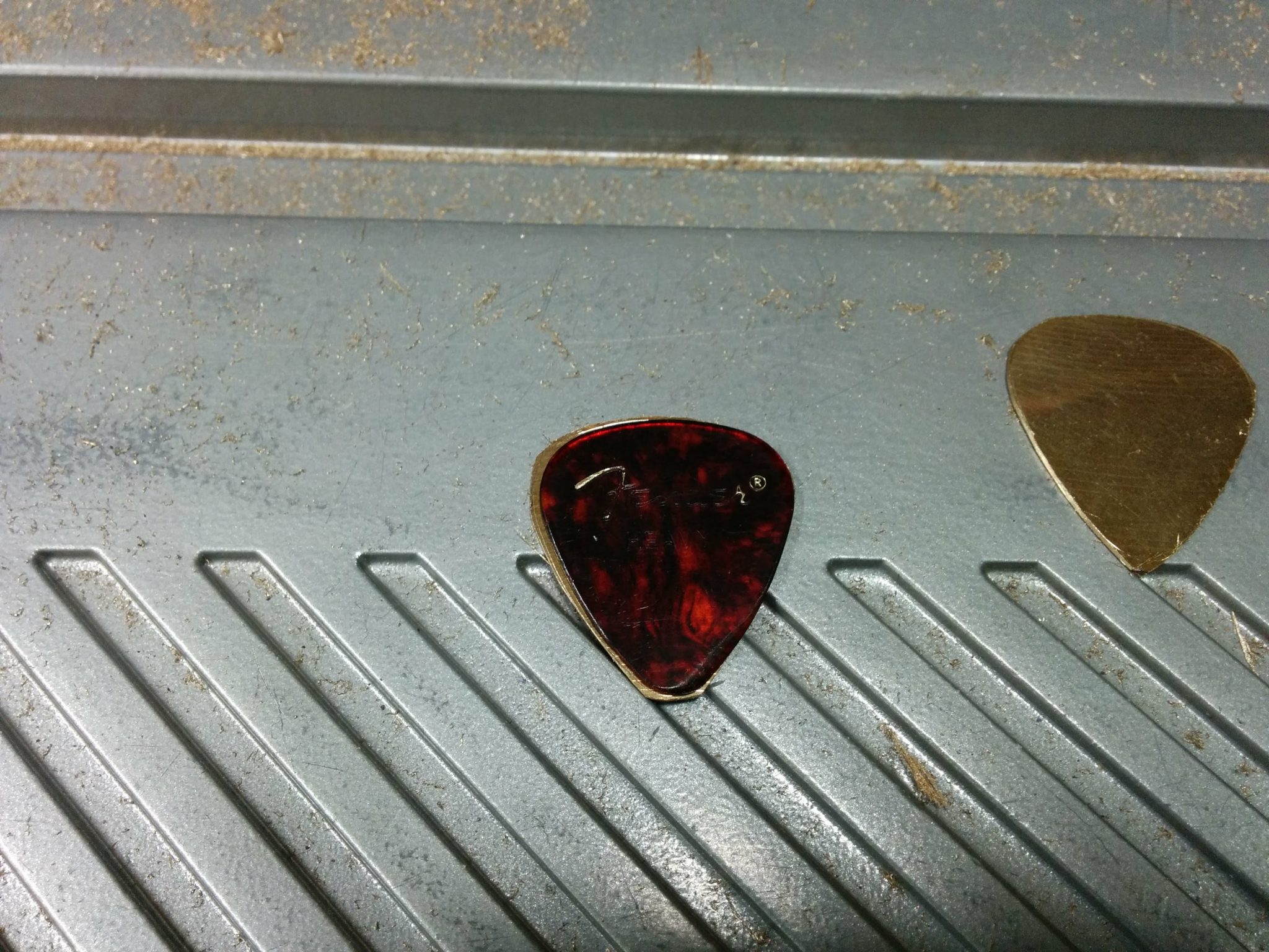 Making A Guitar Pick From A Cracked Cymbal Part 2 Trentdavis