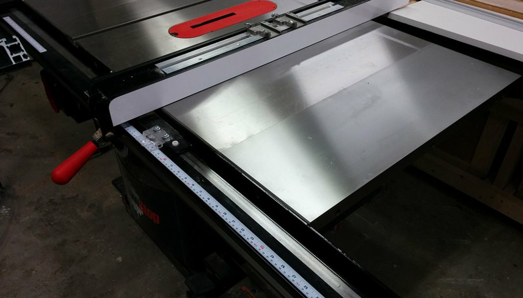 Table Saw Enhancement – Attaching Extra Cast-Iron Extension Wing.