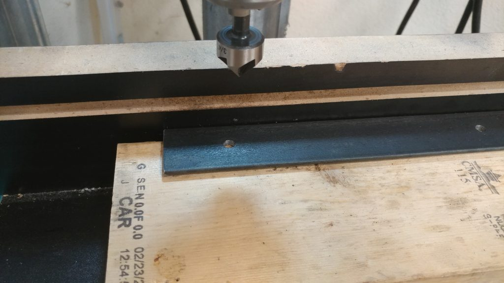 "I followed the 7/32"" bit with a countersink so the screws sit flush."