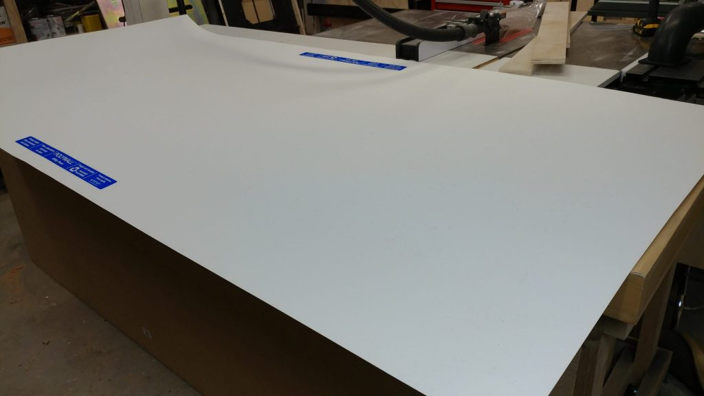 The sheet of PolyWall is too big for my workbench.