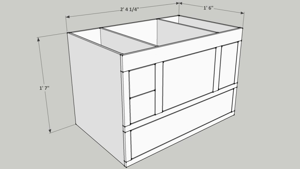 Sketchup plan for the router enclosure.