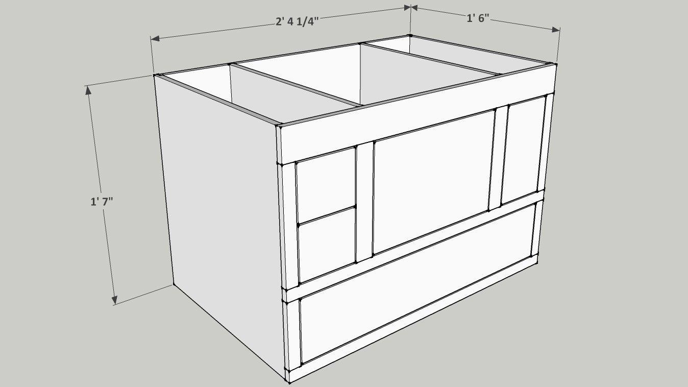 Table saw modification router table enclosure part 1 carcase sketchup plan for the router enclosure keyboard keysfo Image collections