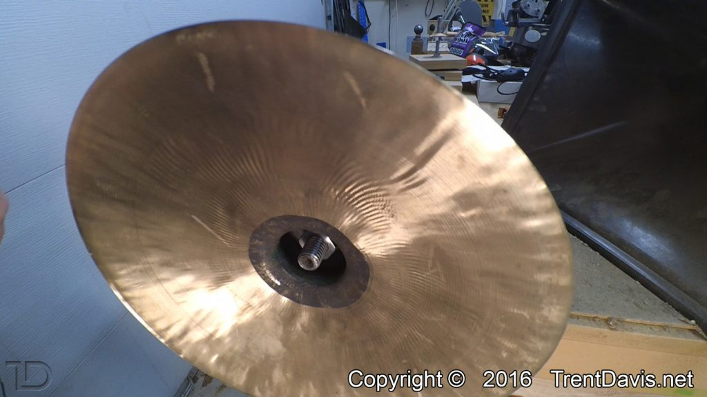 Fig. 13 - the underside of the second cymbal. Before...