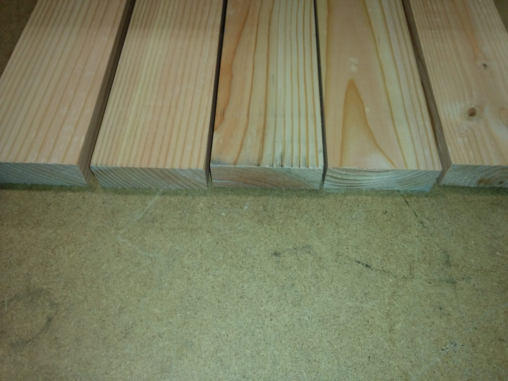 After milling all 4 sides down.