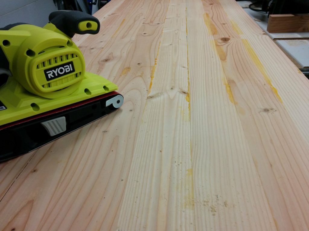Switched to a belt sander.