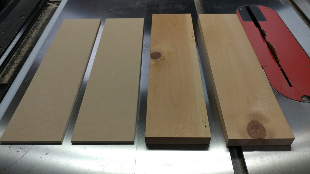 The pieces for the router bit storage drawers.