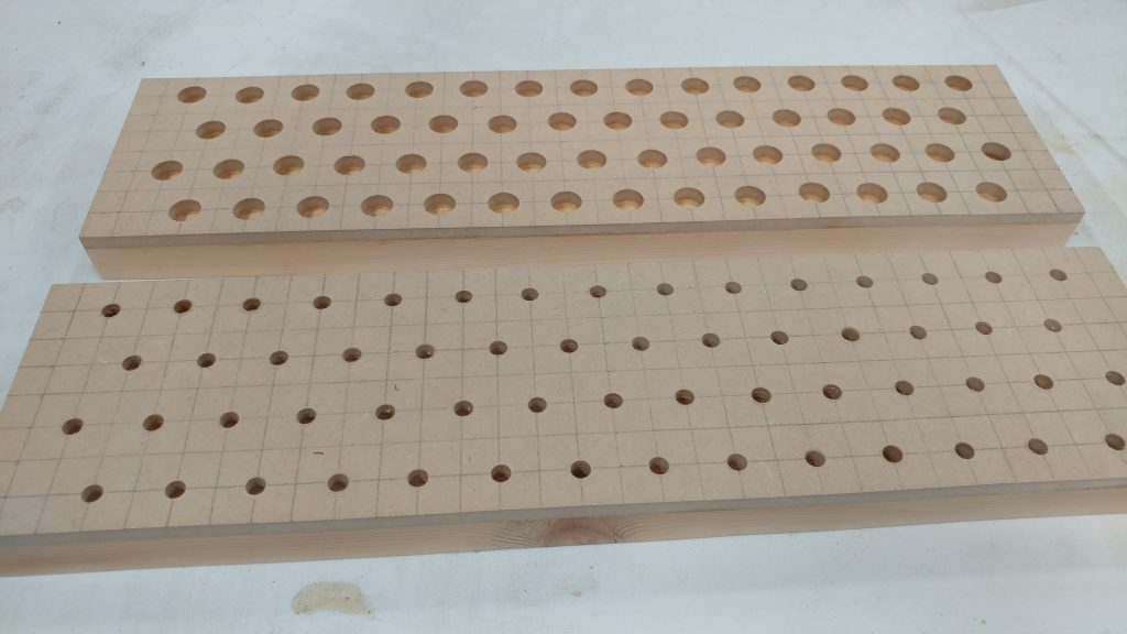 After the extremely tedius process of drilling all of the holes.